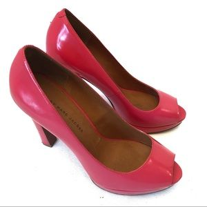 MARC by MARC JACOBS pink Patton leather pumps